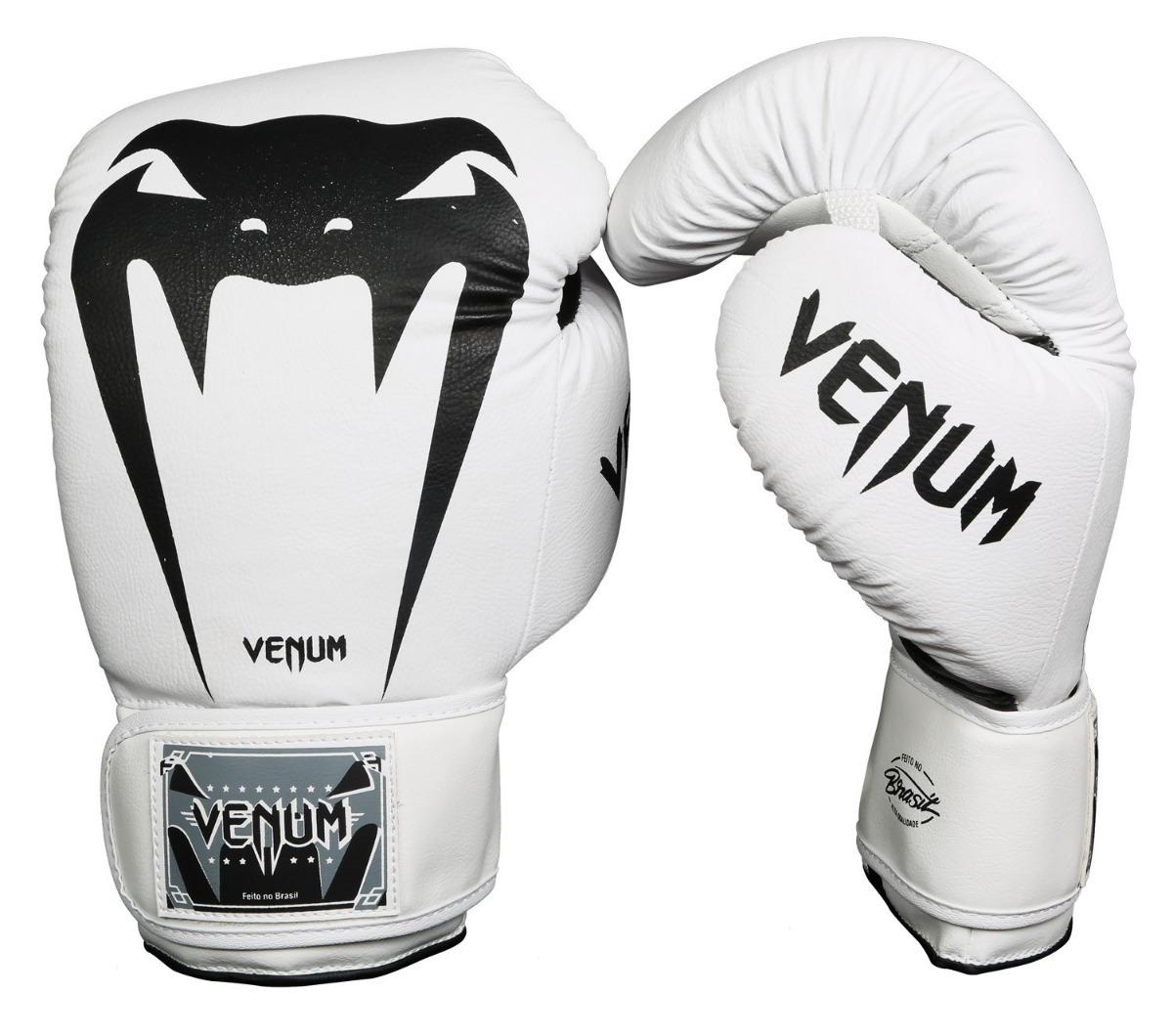 f91c615e1 Luva Boxe muay Thai Venum Giant Brasil Branca Envio Imediato - R  169