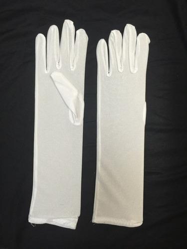 luva cetim longa fantasia dama debutante 33 cm branca