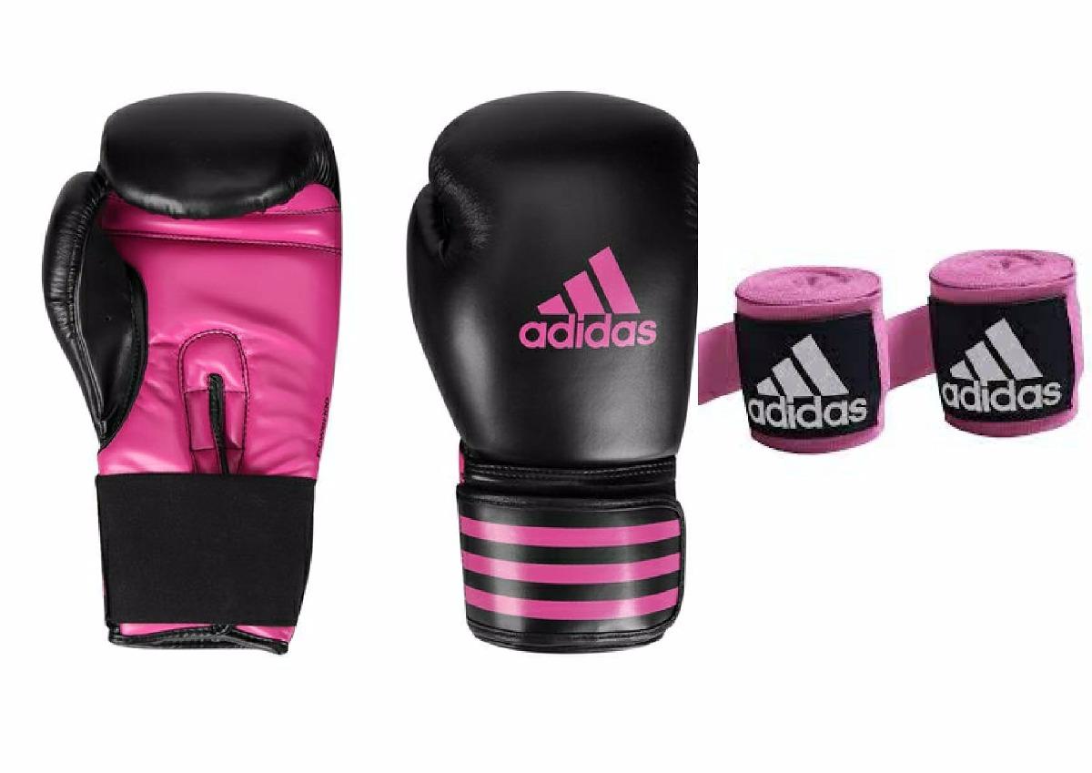 898042521 luva de boxe adidas power 100 preta pink 10oz+ bandagem. Carregando zoom.