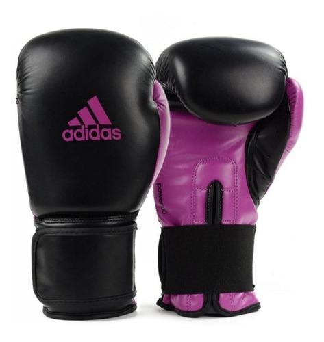 luva de boxe e muay thai adidas power 100 preta com rosa