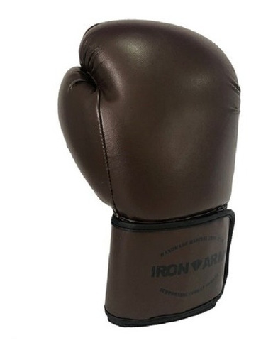 luva de boxe ironarm premium 14 oz old school dark brown