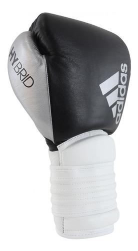 luva de boxe muay thai adidas hybrid 300 branco/preto