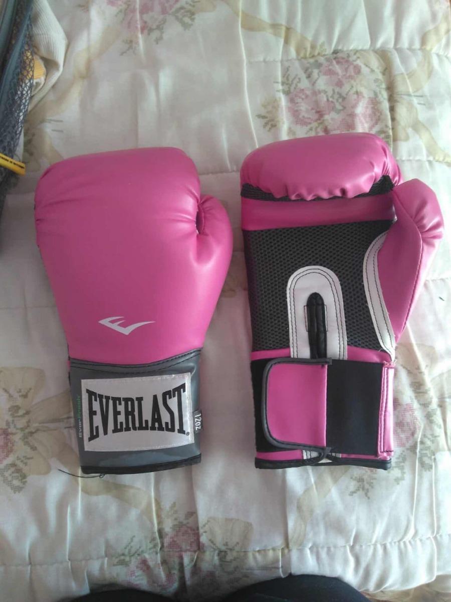 f98d46fd77834 Luva De Boxe muay Thai Everlast Pro Style 12 Oz Rosa - R  90