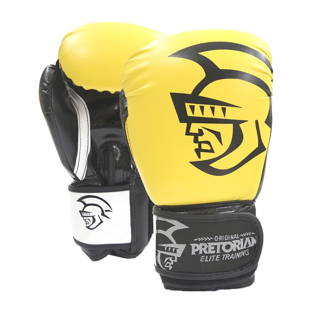 luva de boxe muay thai pretorian elite training 16oz amarela. Carregando  zoom. e9a0f101bc4b2