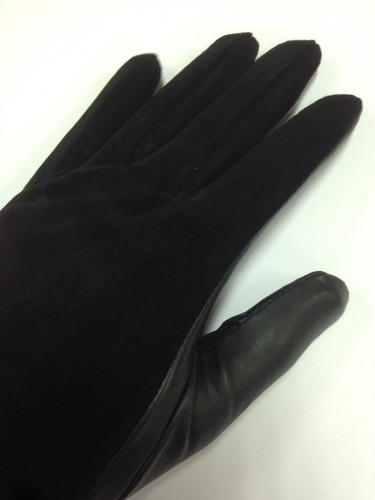 luva de couro feminina chamoe - direto de fábrica