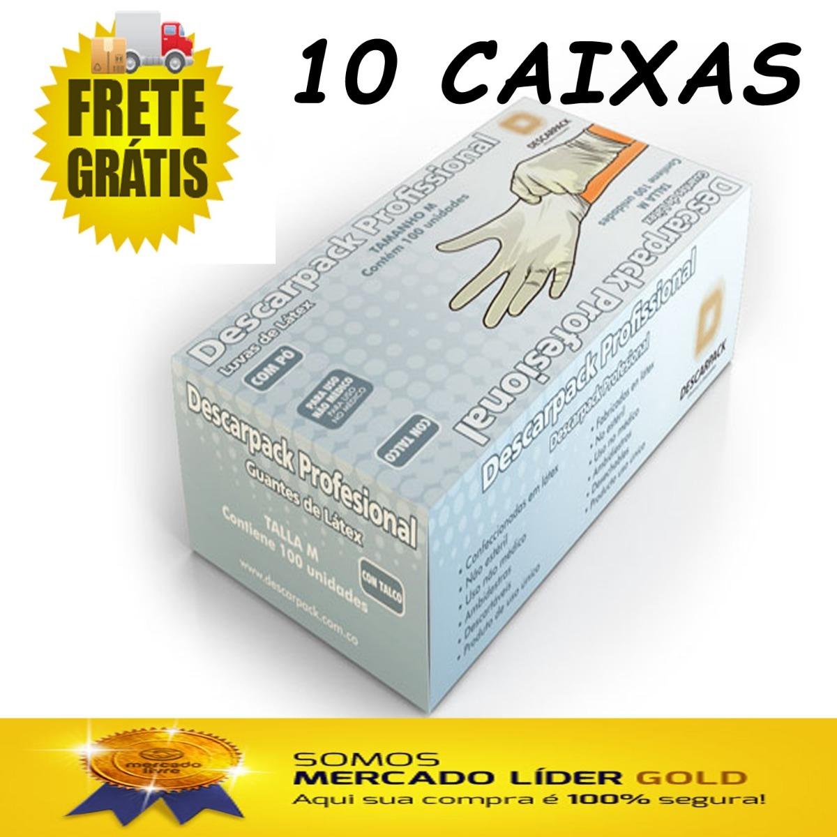 Luva De Látex Descarpack Tam M C  100 - Cx C  10 Unid - R  260,26 em  Mercado Livre 05b9659d99