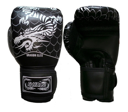 luva de muay thai / boxe fight brasil dragon elite - fbx1377