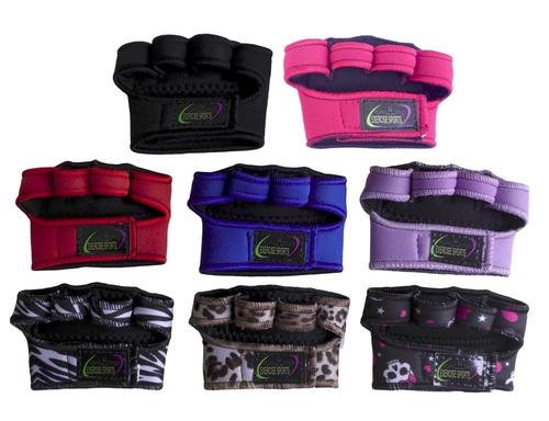 luva de neoprene - kit 10 pares - academia - musculação.