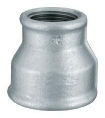 luva de redução galvanizada 2 pol x 1 pol