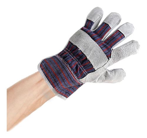 luva de segurança de raspa tecido mista - hammer