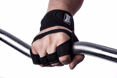 luva esportiva c/ munhequeira - rudel p/ musculação academia