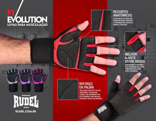 luva esportiva flex-air f1 evolution - rudel - tamanho  p