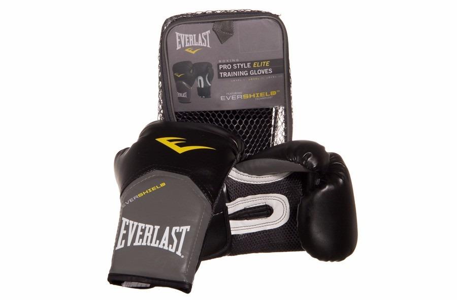 luva everlast boxe  muay thai pro style elite - preta 12oz. Carregando zoom. 471e91897be68