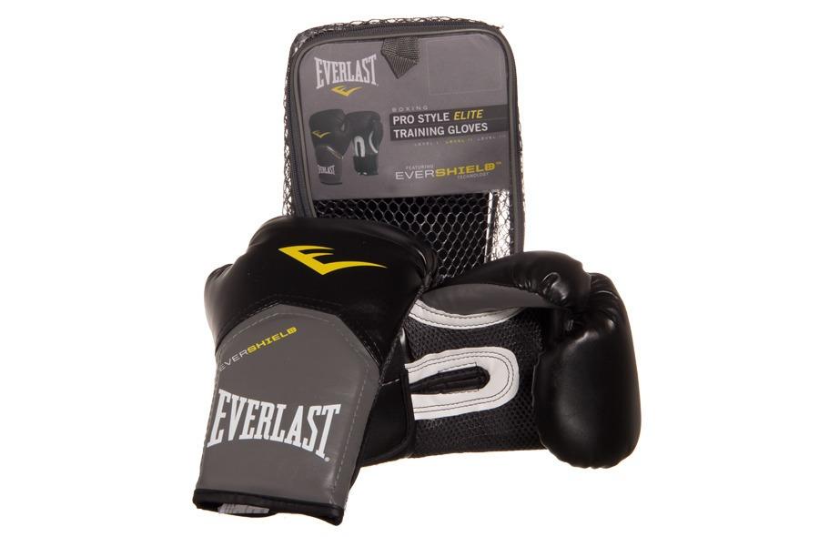 Luva Everlast Boxe  Muay Thai Pro Style Elite Preta Original - R .. 165c1a5121083