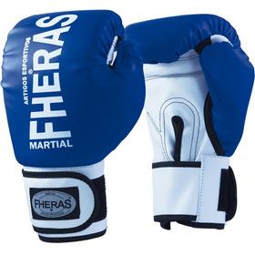 3be5bce6c Luva Fheras Orion Azul E Branco Muay Thai Boxe Mma Luta