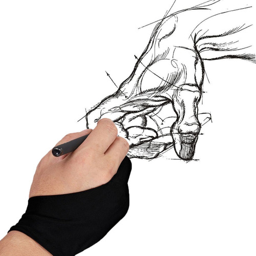 luva gaomon tablet wacom sketch huion pc ipad  frete 8,99
