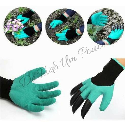 luva garras para jardinagem segurança para mãos super ofe