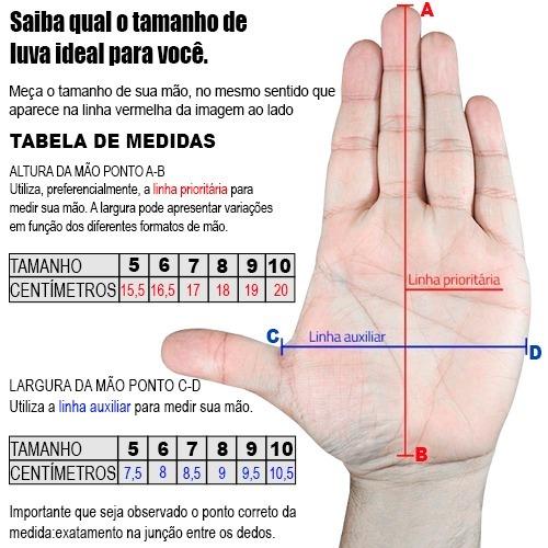 45af821313 Luva Goleiro Futsal Dalponte Classic Tamanhos 5