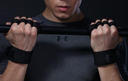 luva grip protetor 4 dedos crossfit c/ munhequeira workout