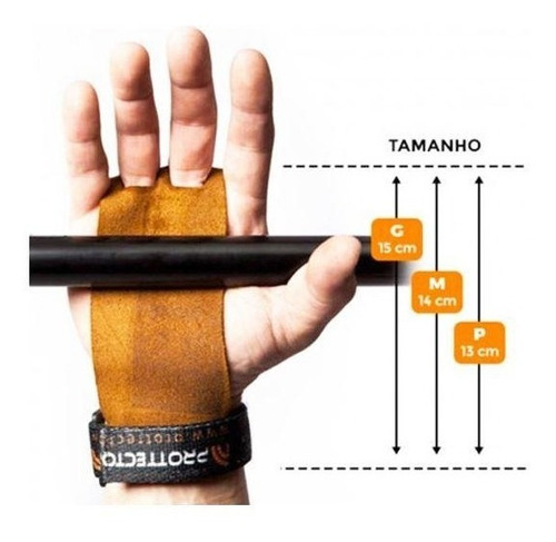 luva hand grip crossfit pull up couro prottector