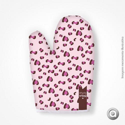 luva haus for fun leopard rosa 19x27