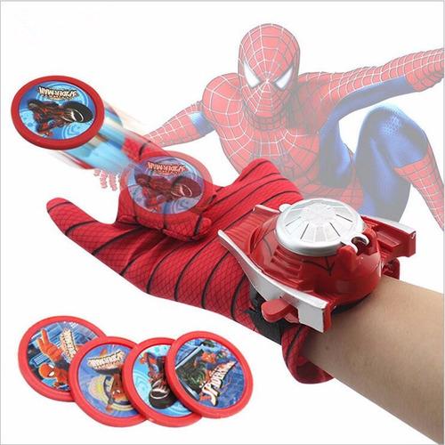 luva homem aranha lança disco teia brinquedo lançador