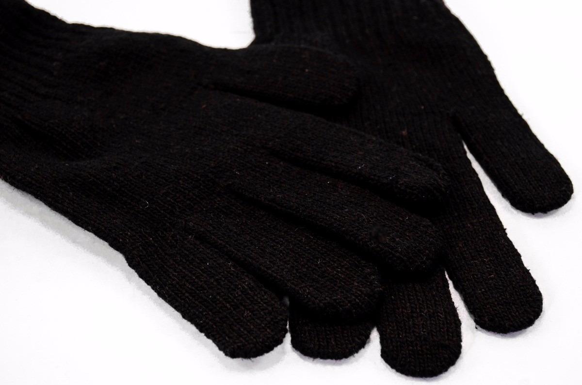 7feef4b898418 Luva Inverno Frio Masculina Adulto Lã Preta Tam P