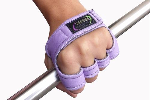 luva lilás palmex feminino neoprene - musculação - academia