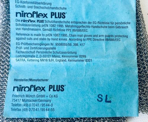 luva malha de aço niroflex plus - germany - large (blue)