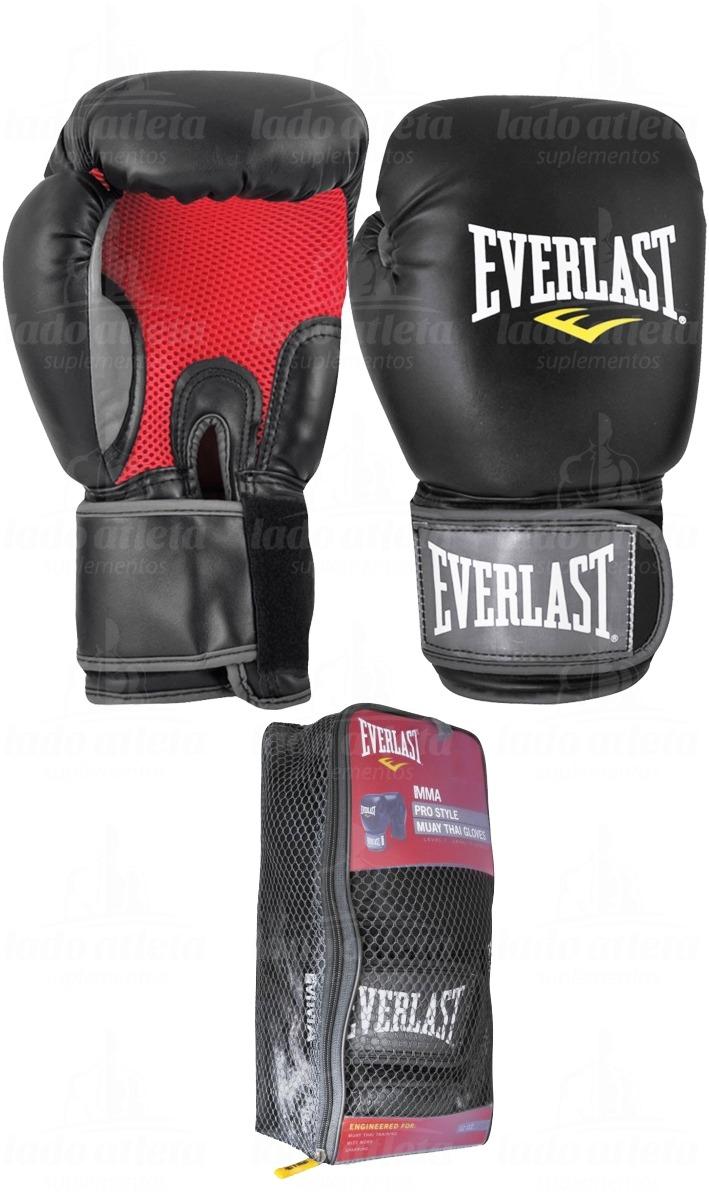 luva mma muay thai boxe pro style everlast preta  tamanhos . Carregando  zoom. d1cee471e6861