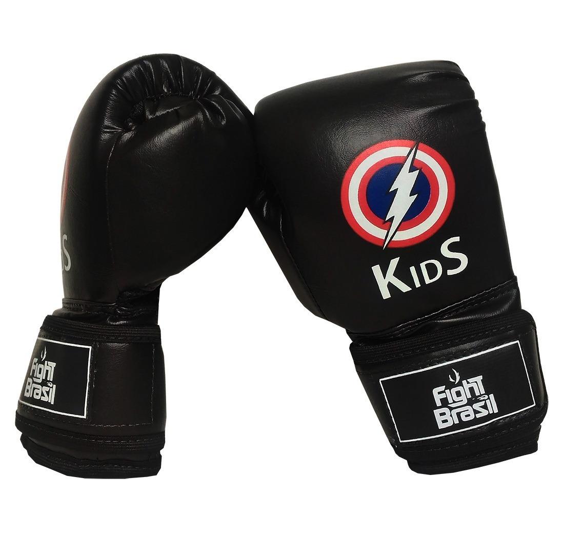 7278797b7 luva muay thai boxe infantil crianças fight brasil 4 oz kids. Carregando  zoom.