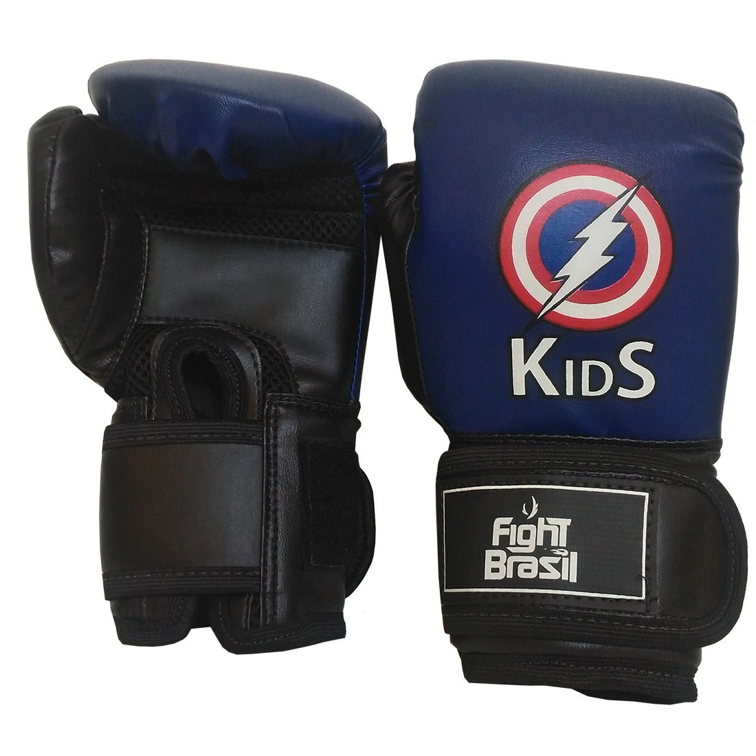 a67fdac68 luva muay thai boxe infantil fight brasil 4 oz azul top. Carregando zoom.
