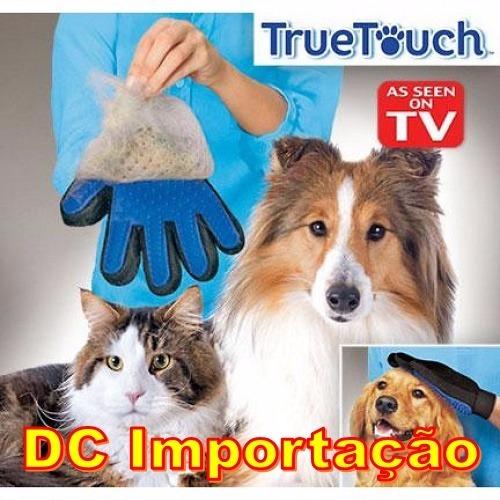 d1ba321bf Luva Nano Magnética True Touch Tira Pelos Pets Cães Gatos - R  54
