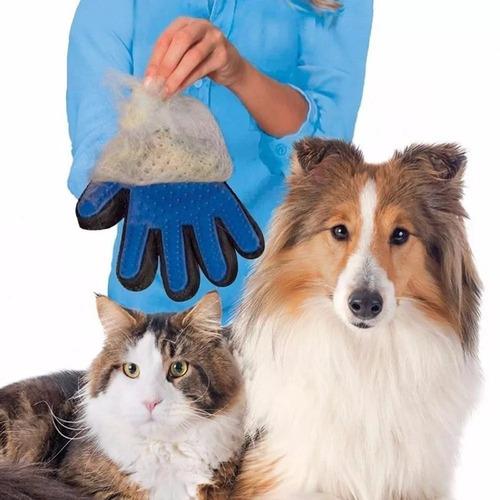 luva nano magnético tira pelos pets cães gatos true touch dc