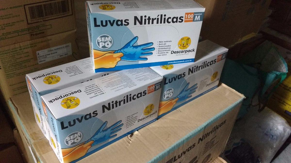 Luva Nitrilica Azul Media S pó C 10cáixas Descarpack - R  216,19 em ... 16cd5fa8b7