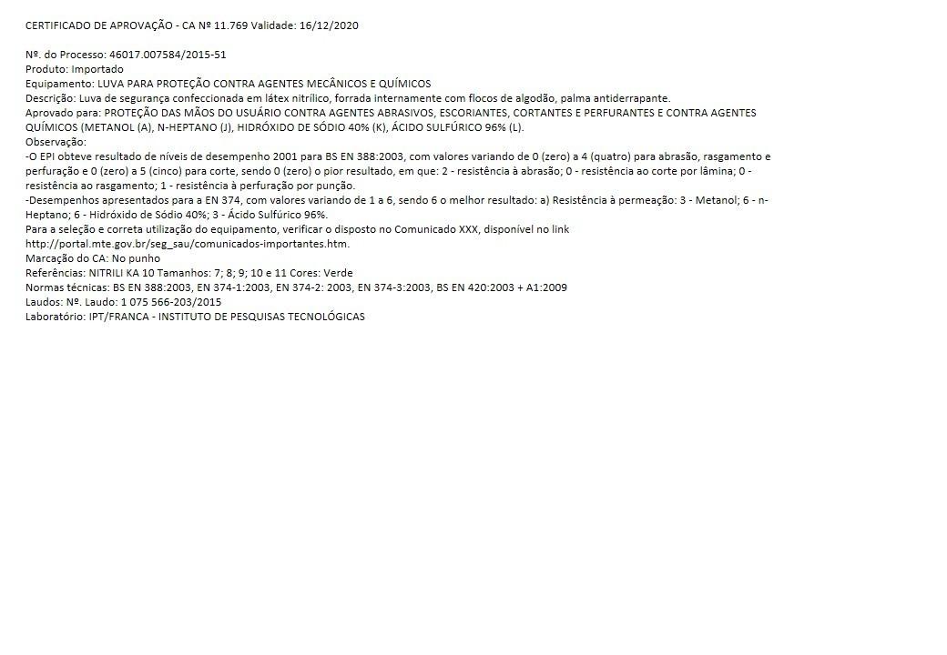 Luva Nitrilica Ka10 Kalipso Epi Ca Tam Xg Kit 21 Pares - R  53,00 em ... 64368f46a0