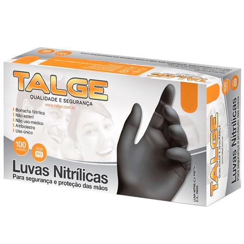 Luva Nitrílica Preta - Talge - Cx  50 Pares - (p m g) - R  34,22 em Mercado  Livre 445ff0a1cc