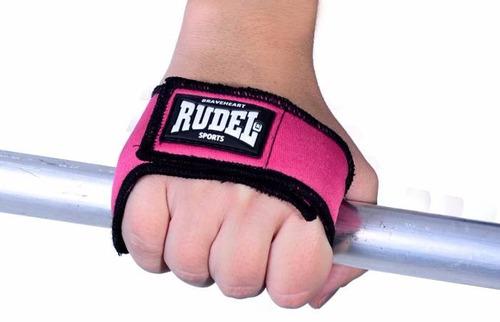 luva p/ treinos fitness sports sliper 2 rudel - rosa