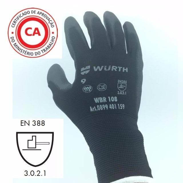 94cb994a88291 Luva Para Mecânico De Nylon Com Pu Epi C.a Kit Com 10 Pares - R  90 ...