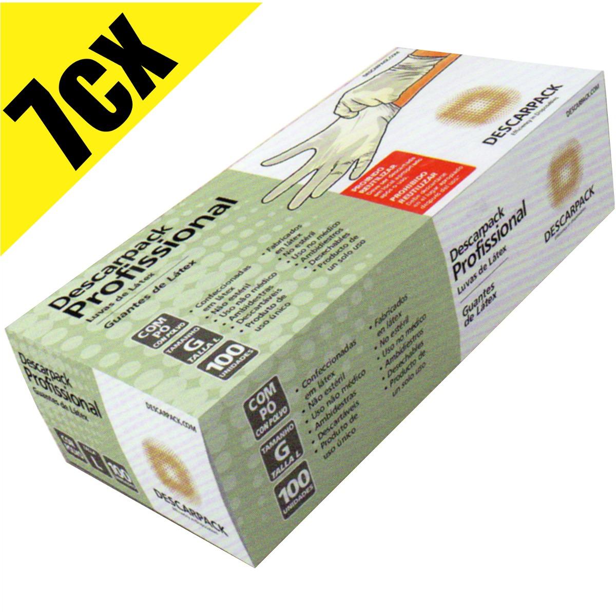 4378150a41fc2 luva procedimento latex descarpack caixa com 700 luvas. Carregando zoom.