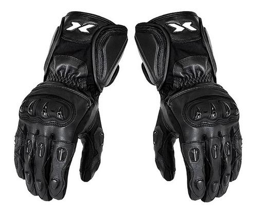 luva proteção mãos moto motociclista x11 impact cano longo