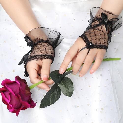 luva  renda kit  02 pares noiva festa 15 anos p entrega