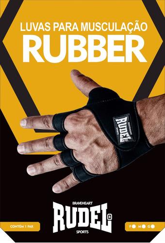 luva rudel rubber musculação academia tam: p