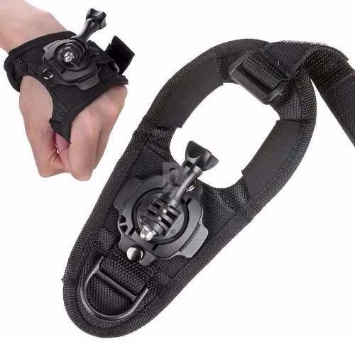 luva suporte alça 360° mão pulso gopro go pro hero 3 3+ 4 5