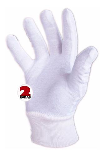 luva tecido branco kit 3 prs unissex fantasia festa garçon