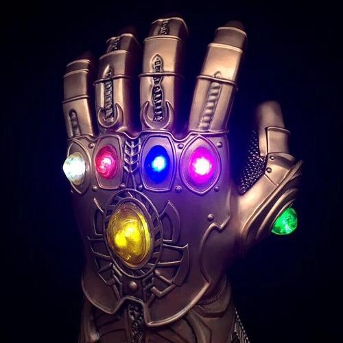 luva thanos joias manopla cristais avengers com leds