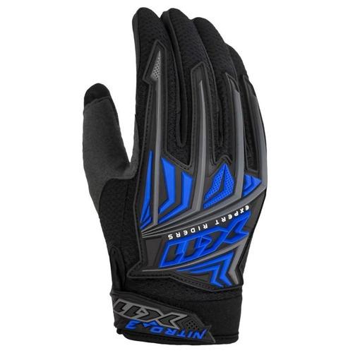 luva x11 nitro 3 moto bicicleta motocross reforçada azul