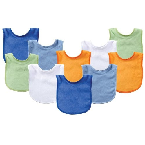 luvable friends 10 pack baby bibs value pack colores surtido