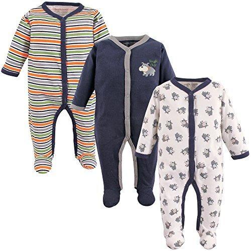 luvable friends baby snap de algodon para dormir y jugar