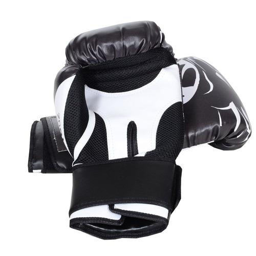 luvas de boxe elite pantera + bandagem 3m + bucal superior